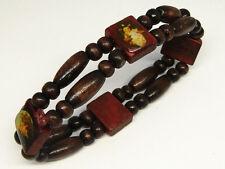 Lot of 3pcs Wooden Bead Religious Bracelet With Different Catholic Saint Picture