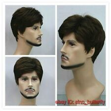 High quality ! Men's Dark Brown Short Straight  Healthy Hair Wig,Cosplay Wigs