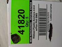 Single Unit by Cobra Anchors Co Ltd PartNo 187S Anchor Plastic W//Screw 6-8x1