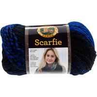 Lion Brand Scarfie Yarn-Black/Royal