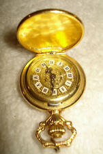 YEMA France CHAONE 17 Jewel Ladies Pendant Pocketwatch Necklace 10 Micr S&G SIO