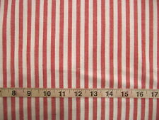 """100% Cotton Fabric """"Country Cottons"""" by Marcus Brothers,  Red/White Stripes"""