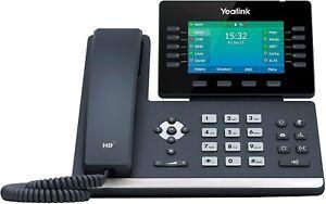 Yealink T54W IP Phone, 16 VoIP Accounts USB 2.0, 802.11ac Wi-Fi, Dual-Port POE
