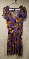 Daisy Fuentes Women's Size M Purple/Multi Print Dress