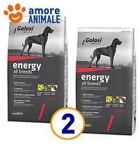 2 SACCHI - Golosi Dog Energy 12 Kg - Crocchette per cani adulti manzo e riso