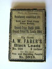 1900'S BOX FABER'S MECHANICAL PEN LEADS , GIFT FRANKLIN RAILWAY SUPPLY FRANKLIN