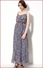 NEW MYNE Ruffle Silk Long DRESS MAXI TRIBAL PRINT Sz SMALL $278 SOLD OUT!!!!