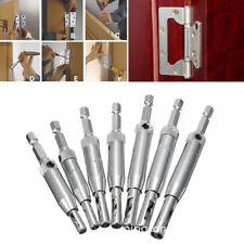 7PCS Self Centering Door Lock Cabinet Hinge Drill Bits Pilot Hole Saw Hot Sale