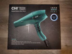 CHI Tech 1875 Limited Edition Series Hair Dryer w/ Rapid Clean Teal - Brand New