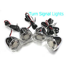 Front Rear LED Turn Signals Light Kit 41mm Clamp for All Harley Fatboy Lo FLSTF