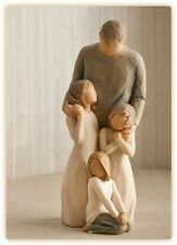 Willow Tree Father with 3 Daughters Figurines Gift   Set
