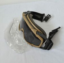 New DE Paintball Airsoft Glasses 2 Color Lens Ballistic-Goggle For Helmet F424