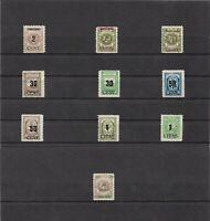 Memel, Litauen 1923, Einzelmarken aus MiNrn: 193 - 233 (*), ungebraucht o. Gummi