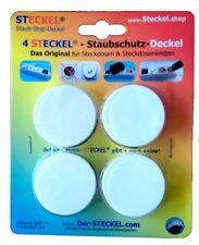 4 Stück STECKEL - Staubschutz-Deckel für Steckdosenleisten Steckdosen-Abdeckung