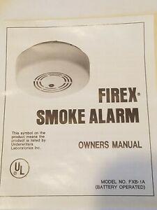 FIREX KIDDE MAPLE CHASE COMPANY FXB-1A 9V DC SMOKE ALARM VINTAGE VERY RARE NEW