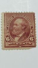 Us Scott 224-1890-1893 6 Cent Garfield-Brown Red-Mint/Hinged/Original Gum-Cv$95.