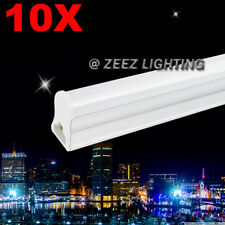 10X T5-Integrated 4FT 18W Daylight Cool White LED Tube Light Bulb Fluoresct Lamp