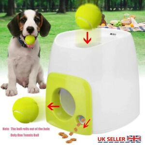 Pet Dog Toy Automatic Interactive Launcher Tennis Ball Throwing Fetch Machine UK