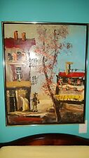 "Morris Katz Original Oil Painting 24"" x 30"" Signed 1980 ""OLD MAN'S AUTUMN?"""
