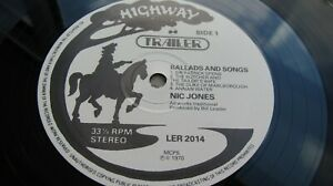 Nic Jones BALLADS AND SONGS Debut  UK LP  Highway RARE FOLK NEAR MINT HEAR