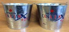 "Molson Canadian X ""Xplicit Taste"" 5 qt Galvanized Ice Bucket - New F/S- Set of 2"