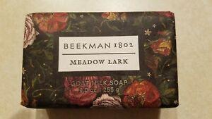 Beekman 1802 MEADOW LARK Formula Goat Milk Soap Bar 9 oz New