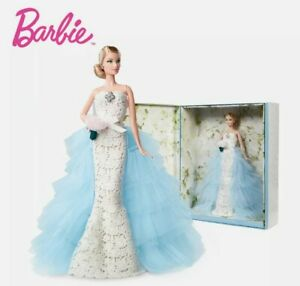 BARBIE GOLD LABEL Oscar de la Renta WEDDING DRESS DOLL RARE MINTY NRFB Low Price