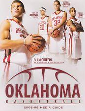 2008 - 2009 OU OKLAHOMA SOONERS BASKETBALL MEDIA GUIDE BLAKE GRIFFIN EX CONDITIO