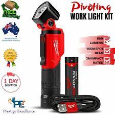 Milwaukee L4pwl-201 REDLITHIUM USB Pivoting LED Work Light Kit 500 Lumen 3 Mode