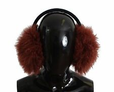 NWT $600 DOLCE & GABBANA Ear Muffs Red Shearling Alpaga Wool Paraorecchie Hair