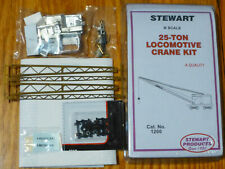 Stewart N Scale #1200 25 Ton Diesel Electric Locomotive Crane Kit