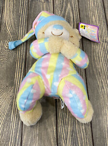 """Goffa Prayer Bear With Hat Rainbow Outfit With Sound Stuffed Animal Plush 12"""""""