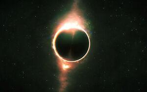 Framed Print - Sagittarius A Supermassive Black Hole (Space Picture Galaxy Art)
