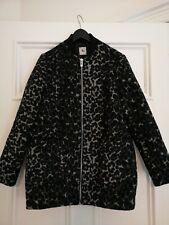 TU Womens Long Warm Animal Print Coat Jacket Pockets Size UK 12