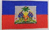 Haiti Aufnäher gestickt,Flagge Fahne,Patch,Aufbügler,6,5cm,neu