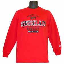 Rensselaer RPI Engineers Property of Hockey Champion Red Longsleeve Tee - Small