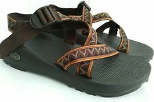 Chaco Z1 Men's Brown Orange Hiking Outdoor Trail Adventure Sandals Vibram US 12