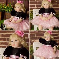 Silicone Handmade Vinyl Reborn Baby Dolls Lifelike Toddler Girl Doll Nice