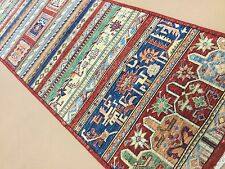 """Persian Oriental Rug Runner Oushak Hand Knotted Wool Multicolor 2'.8"""" X 10'.0"""""""