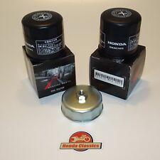 Honda VFR750 VFR800 Genuine Honda Oil Filter x 2 plus Wrench Tool. KIT080