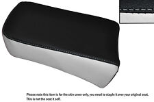 BLACK & WHITE CUSTOM FITS SUZUKI LS 650 SAVAGE REAR LEATHER SEAT COVER