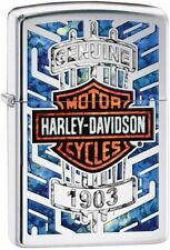 Zippo 29159, Harley Davidson-Logo, High Polish Chrome Lighter, Full Size
