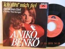 """7"""" ANIKO BENKÖ - Ich fühl mich frei Rarität 1976 Made in AUSTRIA ! AUSTROPOP"""