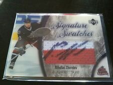 Nikolai Zherdev 2005-06 UD Ice Signature Swatches Patch Auto Blue Jackets
