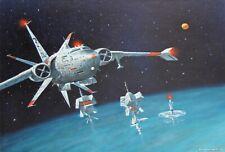 Tony Fachet-Pa Superrealist-Original Signed Oil-Spaceship Sci-Fi/Retrofuturism