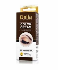 DELIA PROFESSIONAL HENNA COLOUR CREAM for EYEBROW TINT KIT DYE DARK BROWN