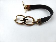 Original GUCCI Armband in 750 Gelbgold + Leder