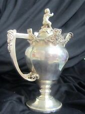 """ANTIQUE 19thC Victorian SILVER-PLATE creamer PITCHER covered MERIDAN Figural 8"""""""