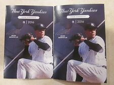 2016 NY Yankees Pocket Schedules>>Dellin Betances >>Lot of 2<<