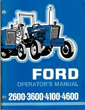 Ford 2600, 3600, 4100 & 4600 Tractors Operator's Manual